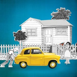 couple car house illustration new - web